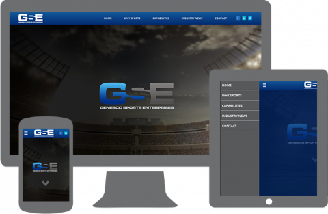 Genesco Sports Enterprises responsive website design portfolio image