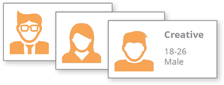 user interviews and personas icons